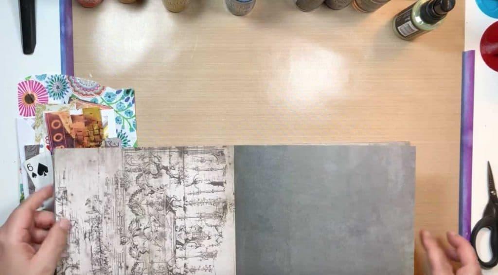 Scrapbook Paper For Art Journalling
