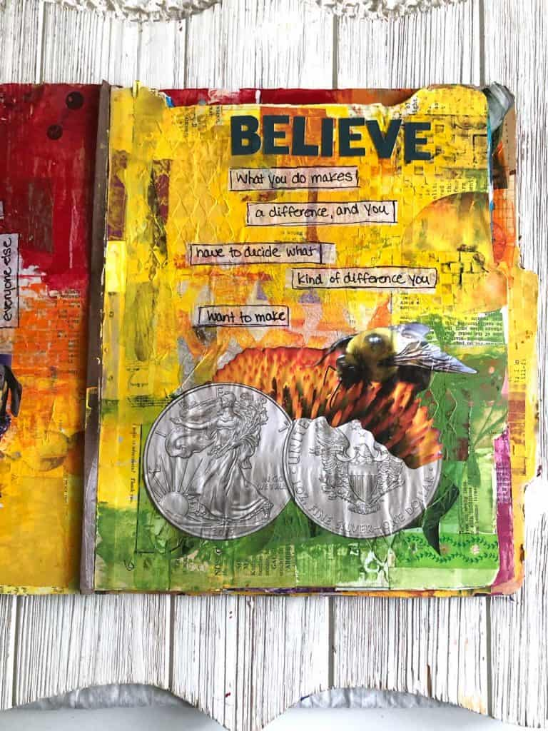 The Believe Art Journal Page