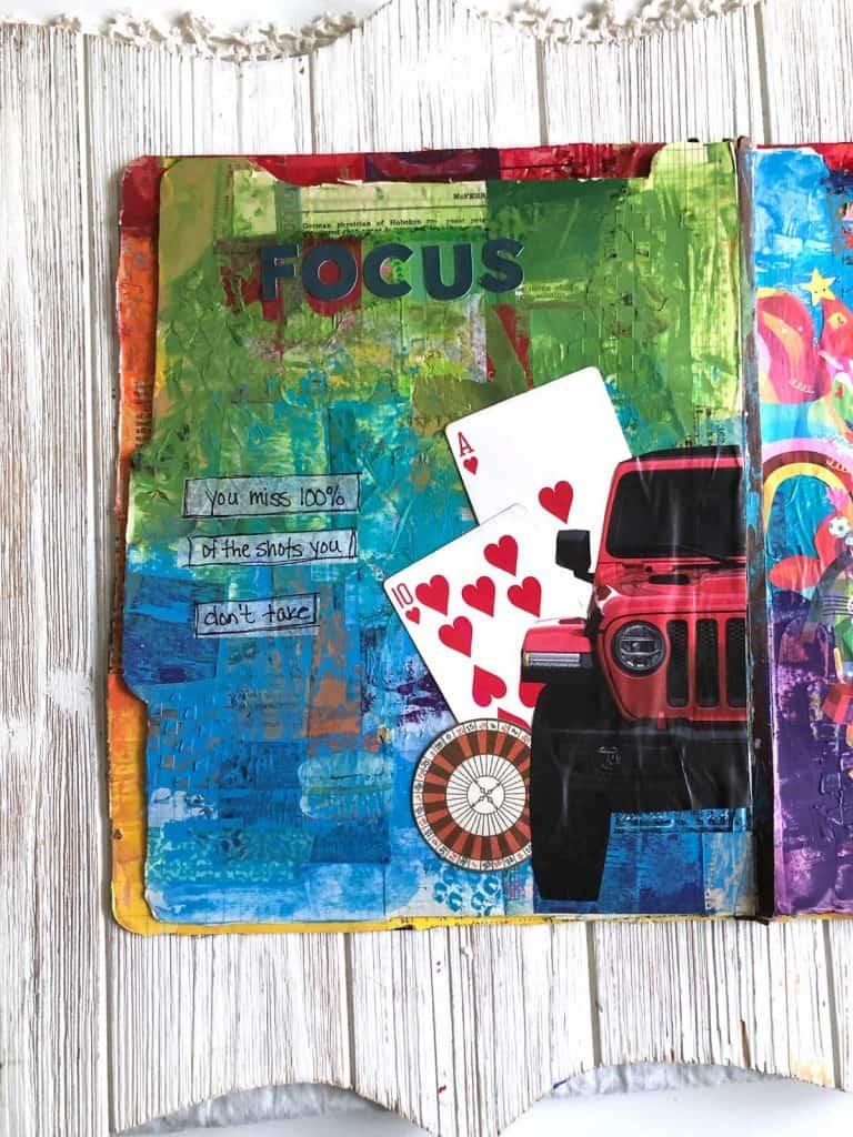 Focus Art Journal Page