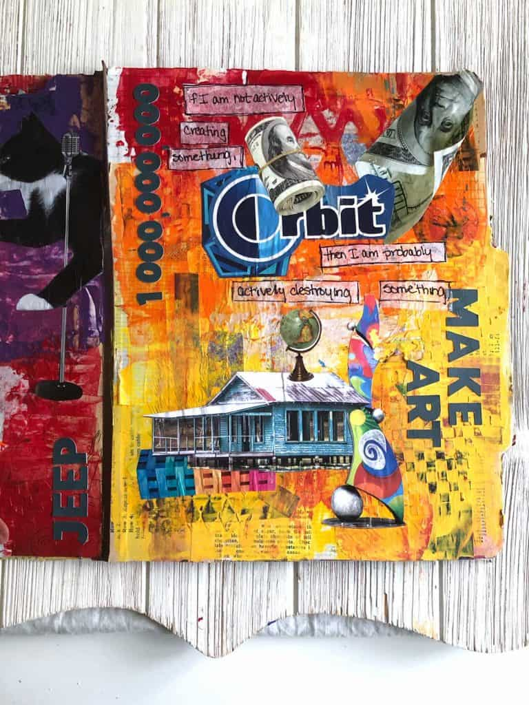One Million Views and Make Art Journal Page