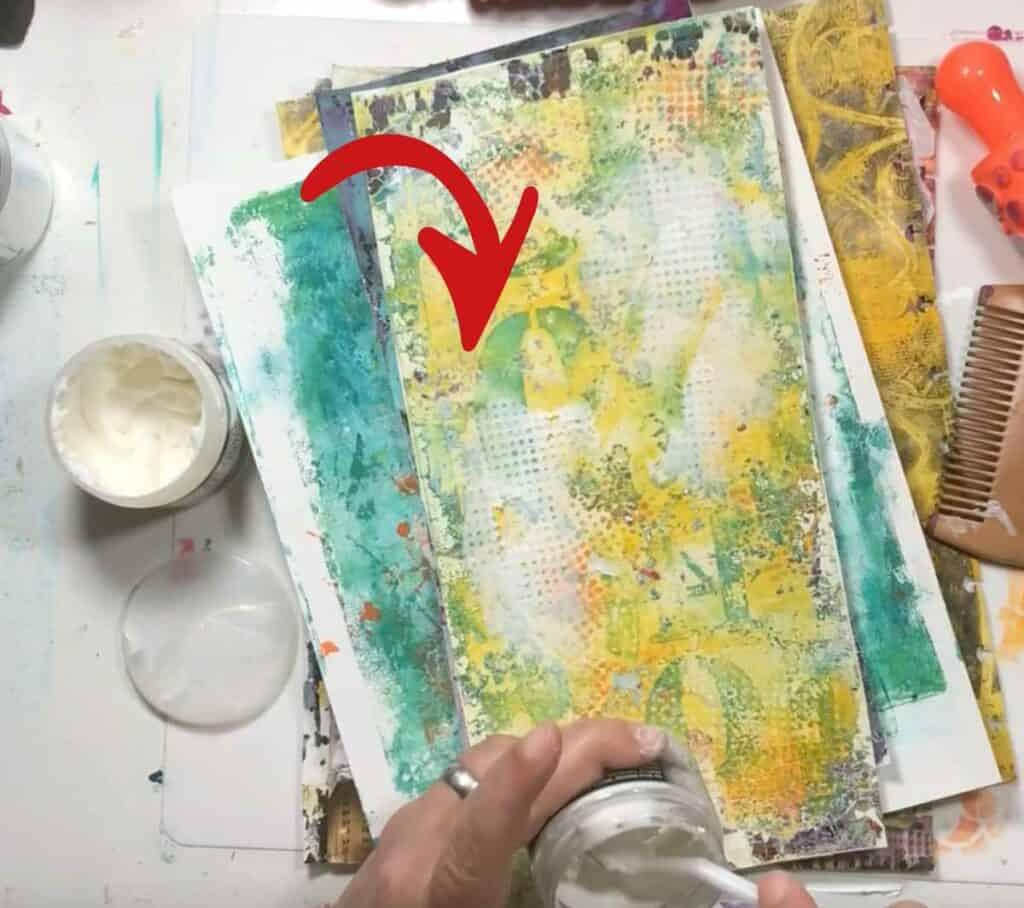 Regular texture paste