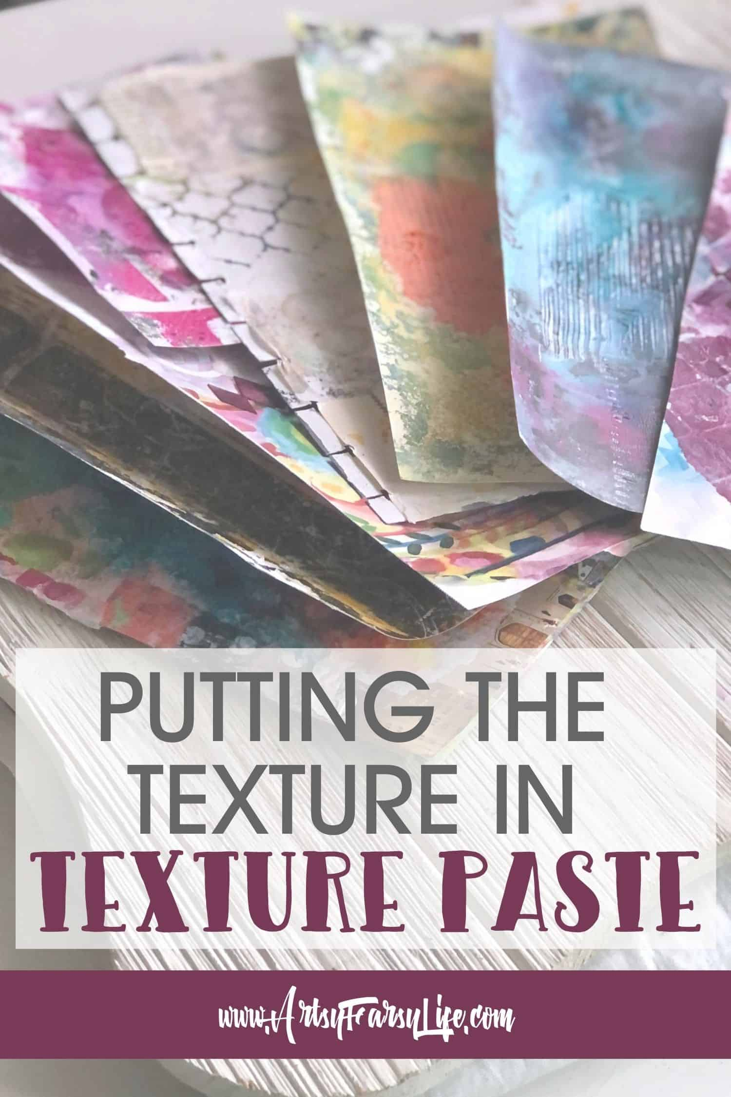 How To Use Texture Paste In Mixed Media