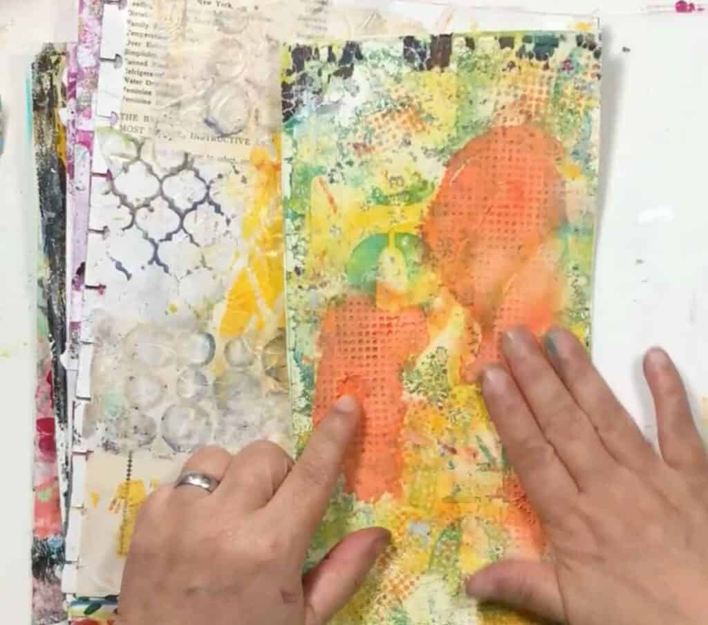 Using Texture Plates In Mixed Media