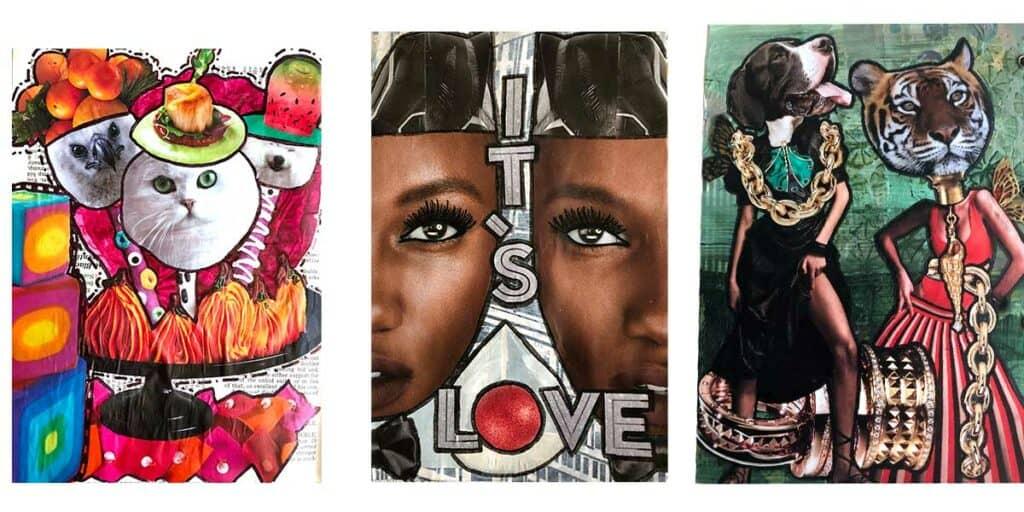 Magazine Collage Artwork By Tara Jacobsen