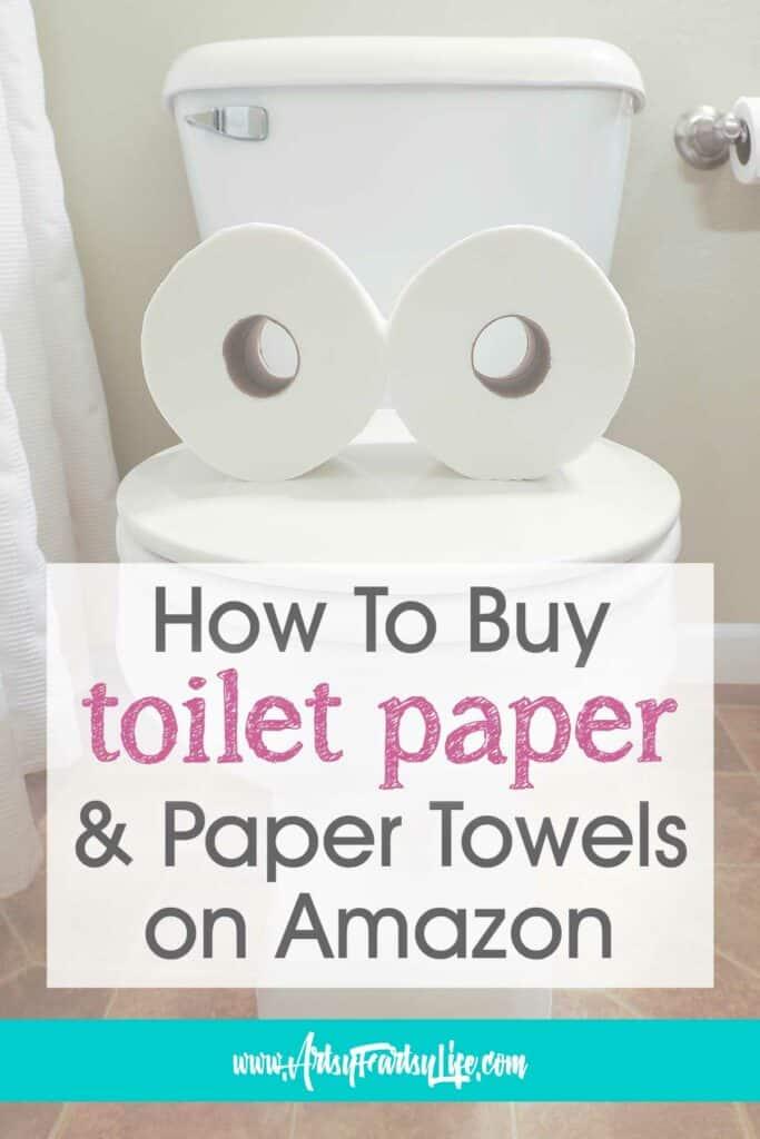 Comprar toallas de papel y papel higiénico en Amazon