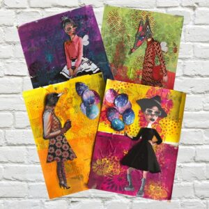 Color Block Art Journal Colorful Magazine Collage Mixed With Dyan Reaveley Collage Sheets