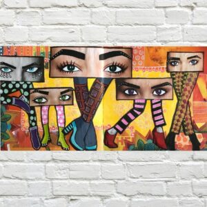 Eyes and Legs Magazine Collage Art Journal Page - How To Make Fun and Creative Eye Shapes In Your Collage Art