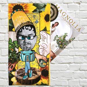 Heat Miser Magazine Collage Art Journal Page - One Magazine Challenge Magnolia Journal