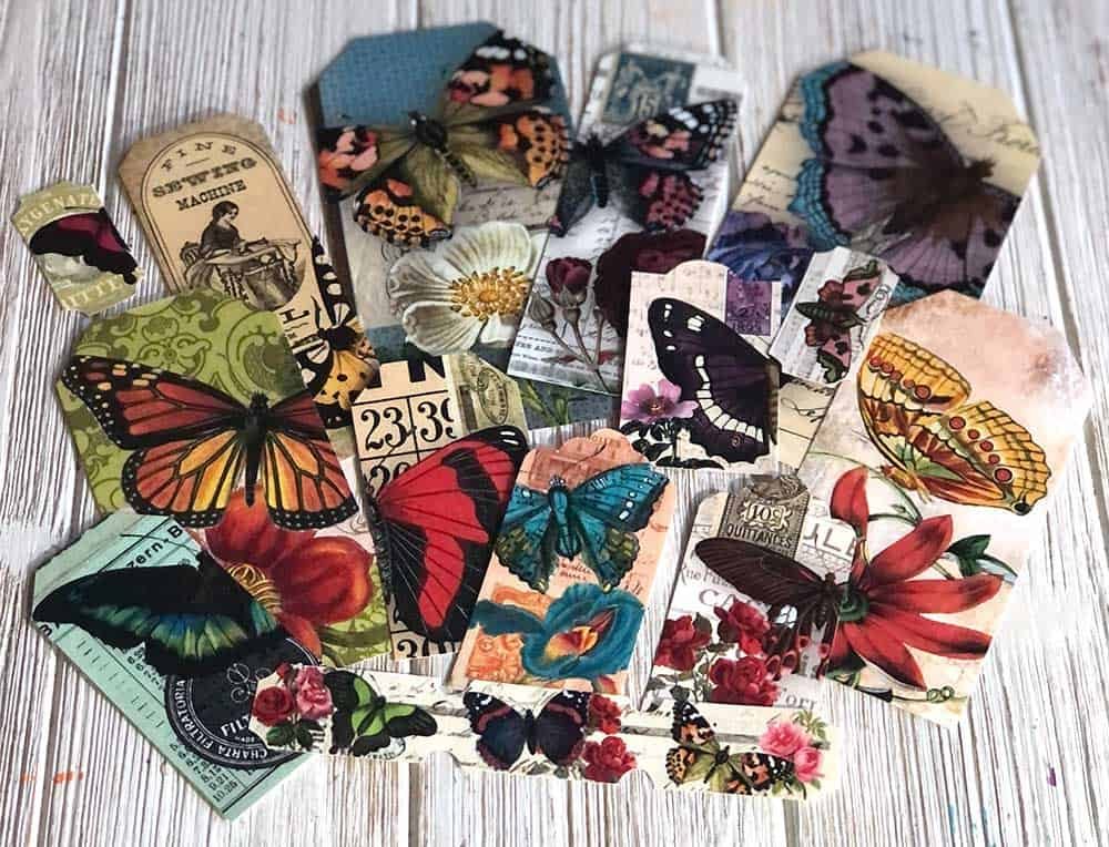 Butterfly Collage Sheets Printed and Cut Out