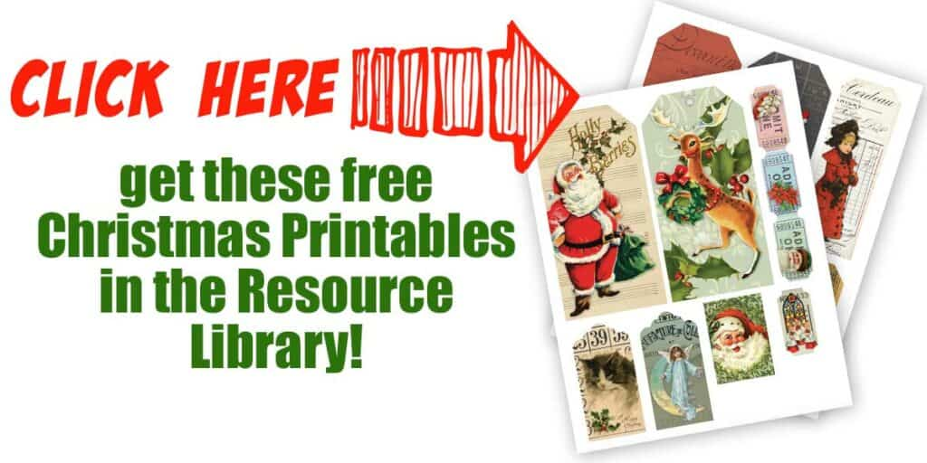 Click Here to get the free christmas printables in the resource libary