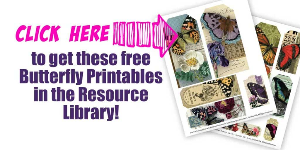 Click here to get the free butterfly printables