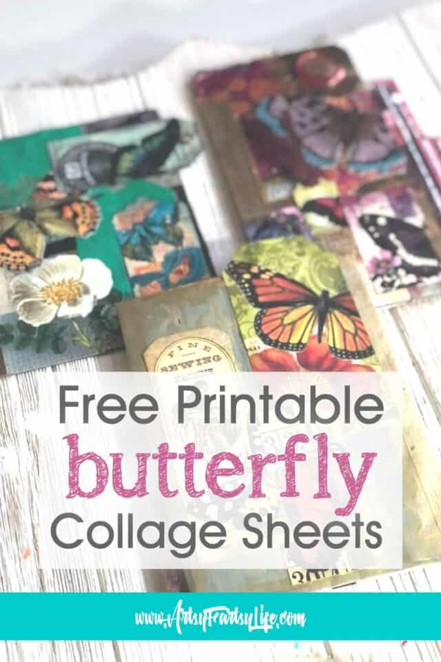 Butterfly Tags and Tickets - Free Printable Collage Sheets