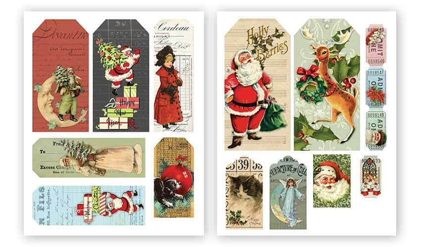 Free Printable Christmas Tags and Tickets