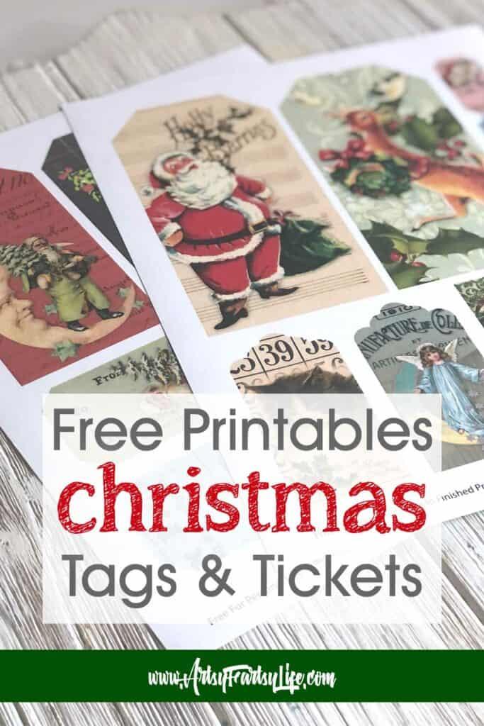 Free Christmas Printable Tags and Tickets